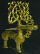 Золотой олень с ветвистыми рогами, курган Филипповка